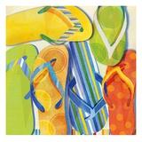 Summer Flip Flops Prints by Mary Escobedo