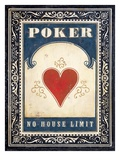 Poker Heart Prints by Angela Staehling