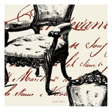 Script Tuft Chair Prints by Walter Robertson