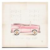Pink Car Posters by Lauren Hamilton