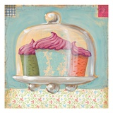 Three Cupcakes Giclee Print by K. Tobin