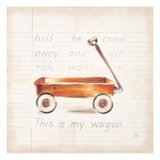 Little Wagon Giclee Print by Lauren Hamilton