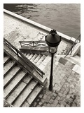 Steps to the Seine Giclee Print by Toby Vandenack