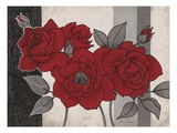 Roses and Stripes 1 Giclee Print by Ariane Martine