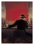 Zigarrenraucher in der Bar Kunstdrucke von Brent Lynch