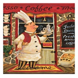 Coffee Chef Giclee Print by K. Tobin