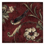 Crimson Song Bird 3 Giclee Print by Laurel Lehman
