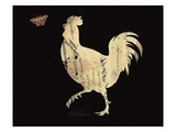 Silhouette Rooster Giclee Print by Alison Shriver