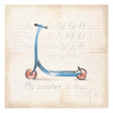 My Scooter Giclee Print by Lauren Hamilton