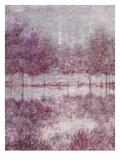 Shimmering Plum Landscape 1 ポスター : ジル・シュルツ・マクギャノン