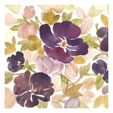 Aubergine Blossom 1 Posters by Edith Lentz