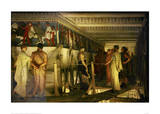 Phidias and the Parthenon Frieze Affiche par Laurence Alma-Tadema