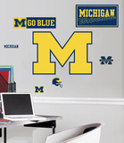University of Michigan Peel &amp; Stick Giant Wall Decals Wall Decal