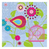 Magenta Bird Giclee Print by Sandra Smith