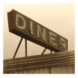 Diner Sign Print by Walter Robertson