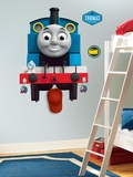 Thomas the Tank Engine Peel &amp; Stick Giant Wall Decal with Hooks Wall Decal