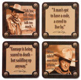 John Wayne 4pc Wood Coaster Set Coaster