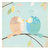 Two Little Birdies Giclee Print by Willow