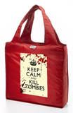 RuMe Keep Calm and Kill Zombies Reusable Tote Bag - Crimson Tote Bag