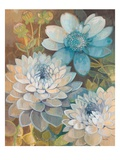 Pretty Blue Dahlias 2 Prints by Vera Hills
