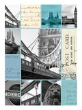 London Postcards Giclee Print by Cameron Duprais
