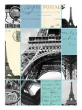 Paris Postcards Giclee Print by Cameron Duprais