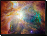 Orion Nebula Framed Canvas Print by  Stocktrek Images