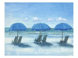 Beach Chairs 3 Prints by Jill Schultz-Mgannon