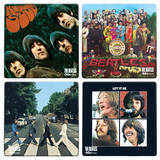 The Beatles Album Cover 4 pc Wood Coaster Set Coaster