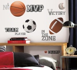 All Star Sports Saying Peel & Stick Wall Decals Autocollant mural