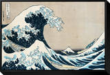"The Great Wave of Kanagawa, from the Series ""36 Views of Mt. Fuji"" (""Fugaku Sanjuokkei"") Framed Canvas Print by Katsushika Hokusai"
