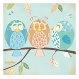 Three Little Birdies Giclee Print by Willow 