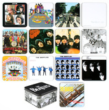 The Beatles Album Cover 13 pc Coaster Set with Tin Box Coaster