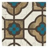 Turquoise Tile 4 Giclée-Druck von Morgan Yamada