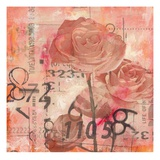 Text Roses Giclee Print by Jane Bellows