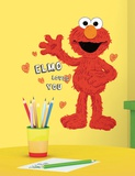 Sesame Street - Elmo Loves You Peel & Stick Giant Wall Decals Vinilo decorativo