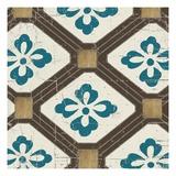 Turquoise Tile 1 Giclée-Druck von Morgan Yamada