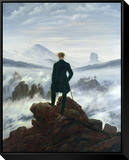The Wanderer Above the Sea of Fog, 1818 Framed Canvas Print by Caspar David Friedrich