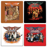 Aerosmith 4pc Wood Coaster Set Coaster