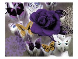 Butterfly Collage Purple Reproduction proc&#233;d&#233; gicl&#233;e par Evangeline Taylor