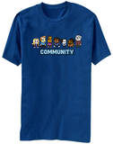Community - 8 Bit T-shirts