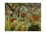 Tropical Storm with Tiger Posters by Henri Rousseau