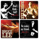 Bruce Lee Wood Coaster Set Coaster