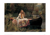 The Lady of Shalott Affiches par John William Waterhouse