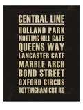 Central Line Prints by Devon Ross