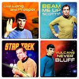Star Trek 4pc Wood Coaster Set Coaster