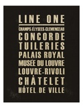 Paris Line One Posters by Devon Ross