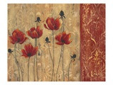 Patterned Poppy Giclee Print by Sandra Smith