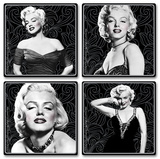 Marilyn Monroe 4pc Wood Coaster Set Coaster
