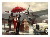 Transcontinental Flight Art by Brent Heighton